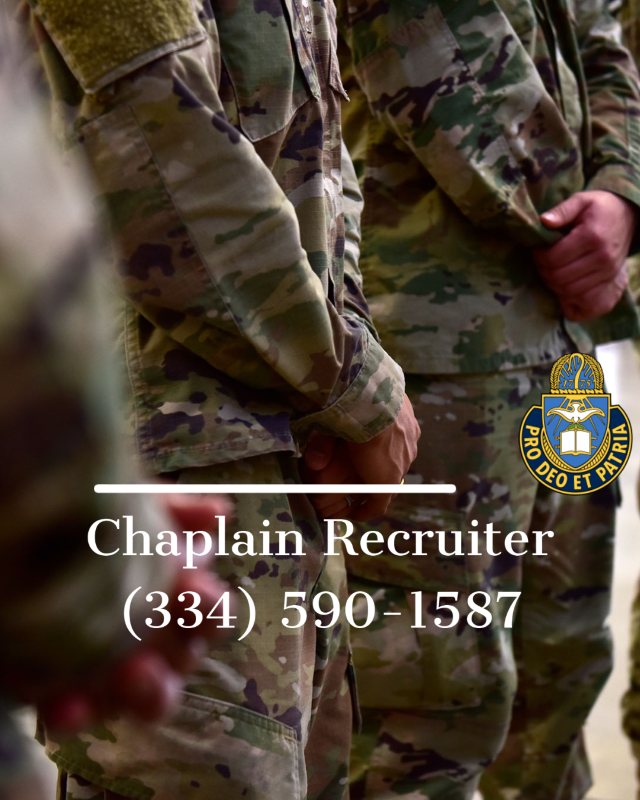Chaplain Recruiter Office: (334) 590-1587